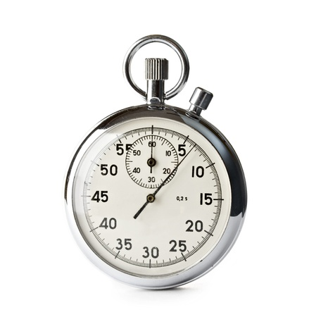 stop time: Stopwatch isolated on the white background