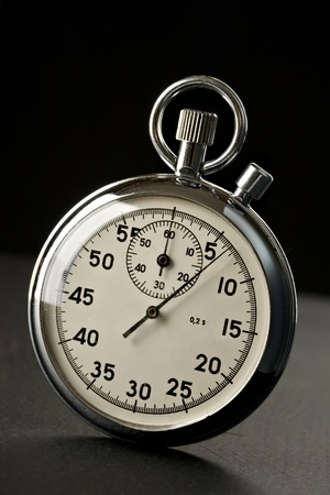 Stopwatch isolated on the black background Stock Photo - 9848239