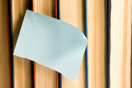 Sticker on books photo