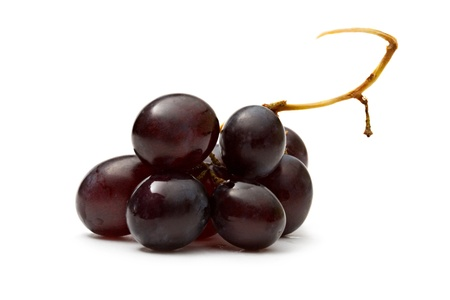 Black grape isolated on the white background photo