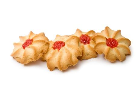 galletas: Galletas aislado fondo blanco o