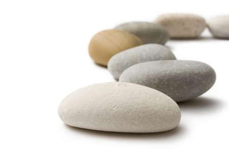 spa stone: Stones auf dem wei�en Hintergrund isoliert