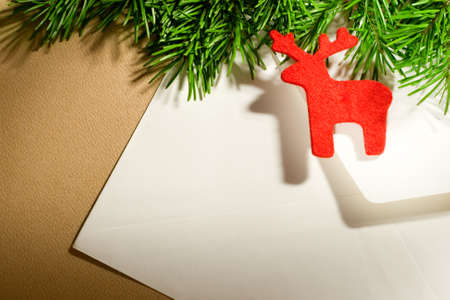 Envelope on the xmas background Stock Photo - 10831283