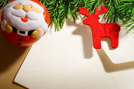 Envelope on the xmas background Stock Photo - 10831310