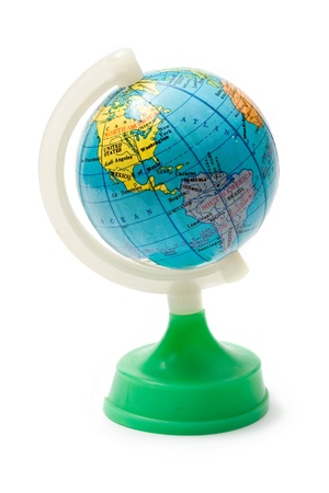 parallel world: Terrestrial globe isolated on the white background