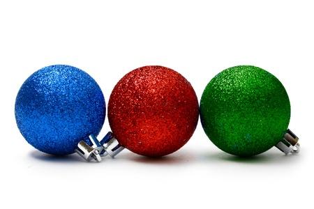 New-Year tree decoration isolated on white  photo