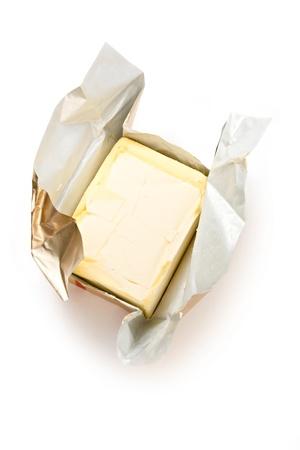 Margarine isolated on the white background