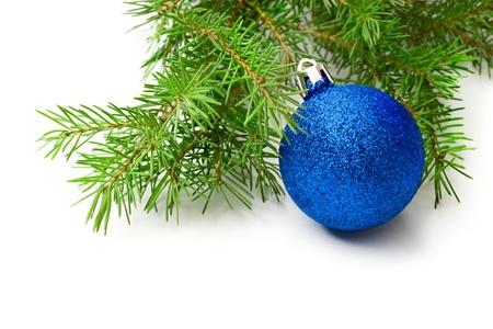 Christmas tree decoration isolated on white  Stock Photo - 10831302