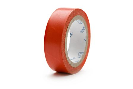 sellotape: Adhesive tape on the white background