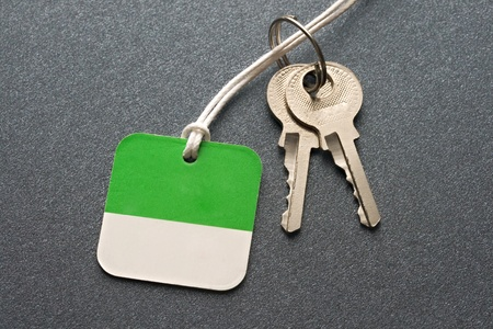 Keys on the grey background photo