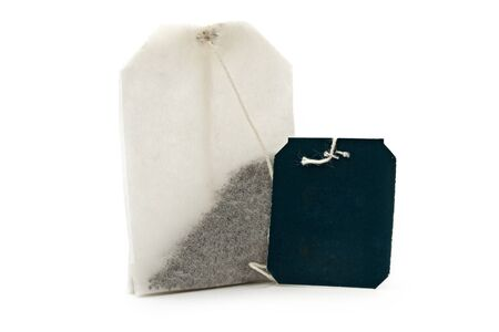 Teabags on a white background Stok Fotoğraf