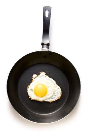 bakplaat: Gebakken ei in een bakplaat