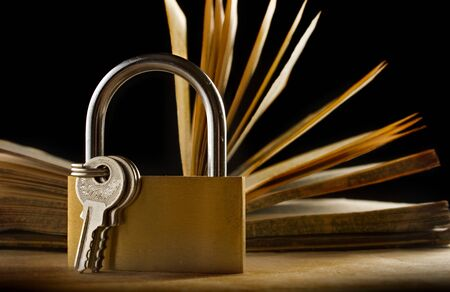 keylock: An old book and a keylock