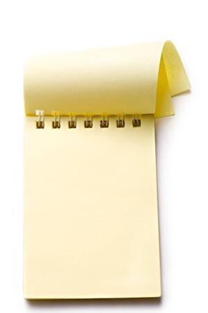 one sheet: Notepad on the white background