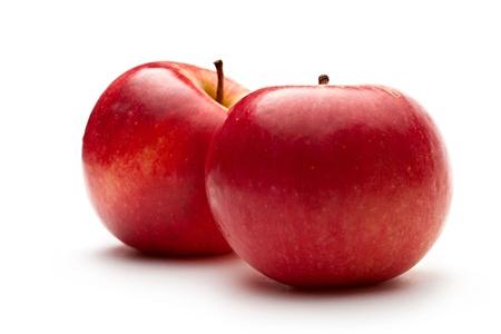 pomme rouge: Pommes rouges sur le blanc