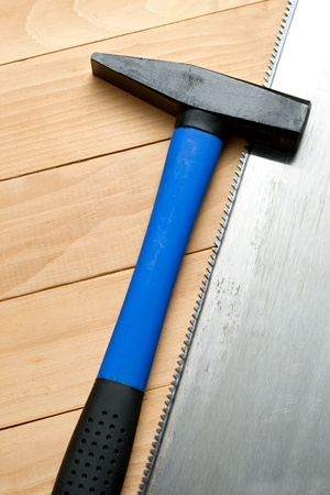 handsaw: Martillo con la sierra de mano de acero
