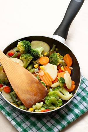 bakplaat: Gebakken groenten in een bakplaat