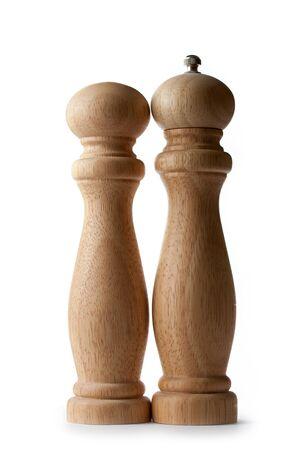 Wooden salt and pepper set photo