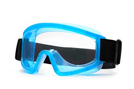 eyeshield: Blue safety eye shields with strap