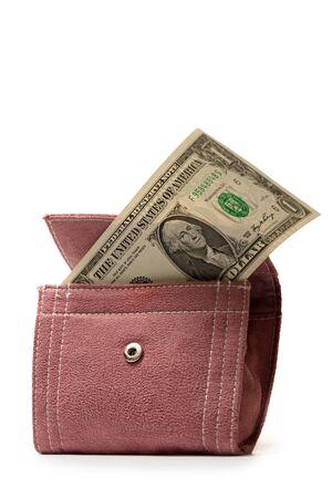 corduroy: Lilla borsa in velluto con il dollaro