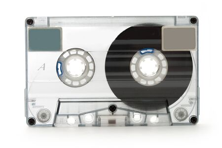 Old fashioned cassette for tape recorder photo