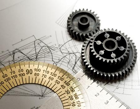 cad drawing: 機械棘輪和起草