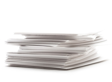 stack of business cards: Pile of paper cards