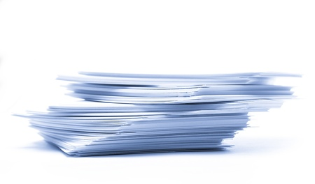 Pile of paper cards Stock Photo