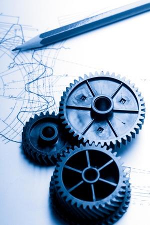 Trinquetes mecánicos y de redacción Foto de archivo - 12953340