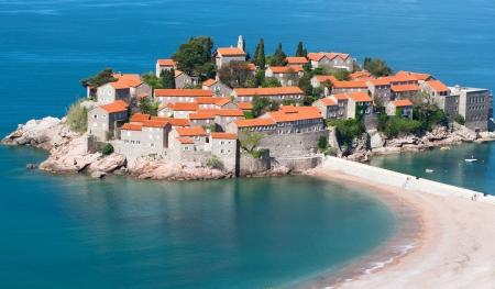 sveti: Sveti Stefan resort island in Montenegro