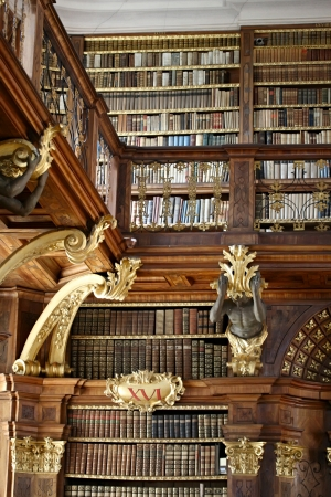 Library of Stift Melk in Austria