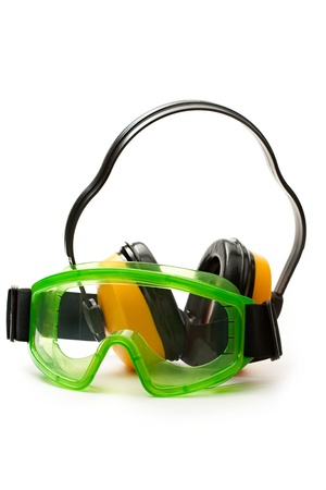 Green goggles with earphones Stock Photo - 13765317