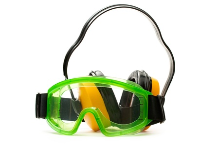 Green goggles with earphones  photo