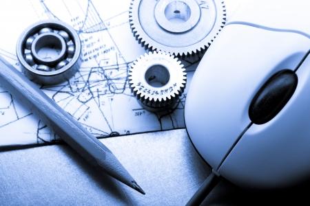 Mechanische Ratschen, Ausarbeitung und Maus Lizenzfreie Bilder
