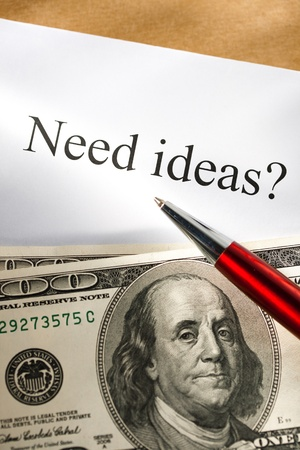 Idea conception with pen and money Stock Photo - 13970044