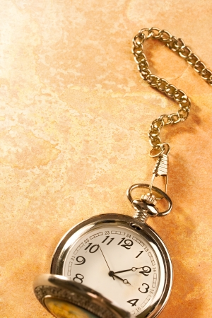 Pocket watch isolated photo