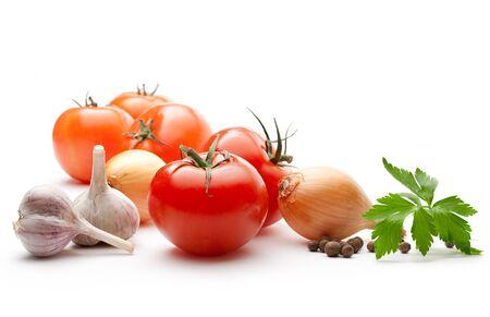 Gemüse auf dem weißen Hintergrund Standard-Bild