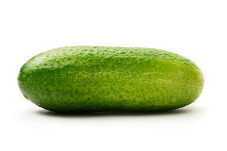 Verse groene komkommers op wit Stockfoto - 14484980