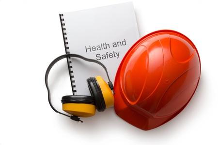 Register with earphones and helmet Stock Photo