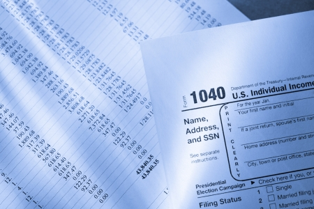 Tax form and operating budget  photo