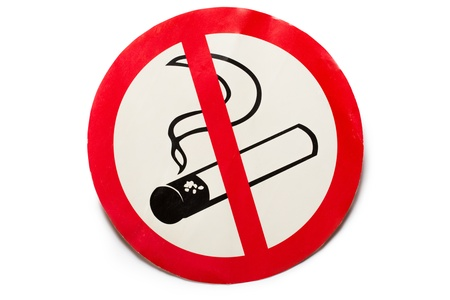 No smoking sign on background photo