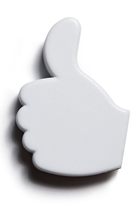 Thumb up okay sign badge Stock Photo - 14810484