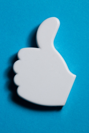 Thumb up okay sign badge Stock Photo - 14810582