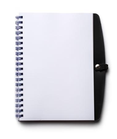 Notepad auf dem weißen Hintergrund
