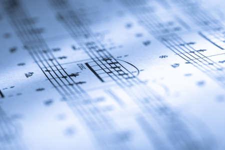 partition musique: Musique imprim�e sur du papier