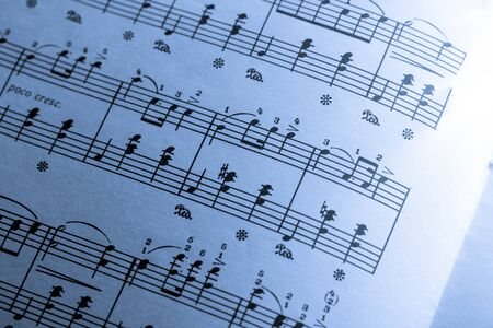 music score: Music score on paper Stock Photo