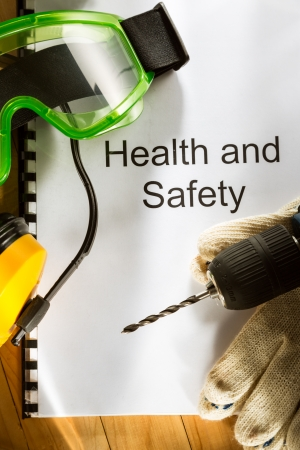 safe and sound: Register with goggles, drill and earphones