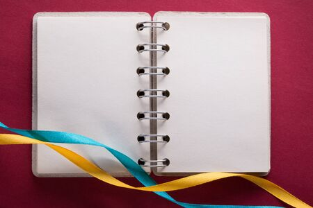 Open notebook with ribbons Stock Photo - 16029482