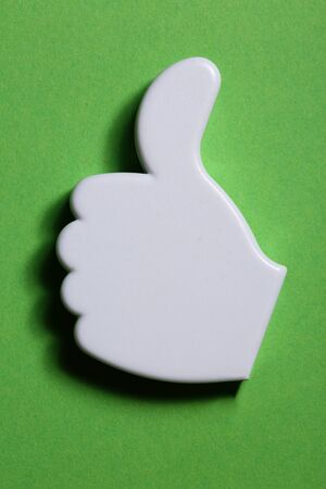 Thumb up okay sign badge Stock Photo - 16241222