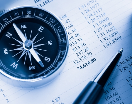 financial gains: Operating budget, compass and pen